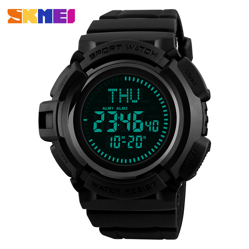 SKMEI Outdoor Compass Sports Watches Men Hiking Countdown Chrono Digital Watch Waterproof Wristwatches Male Relogio Masculino