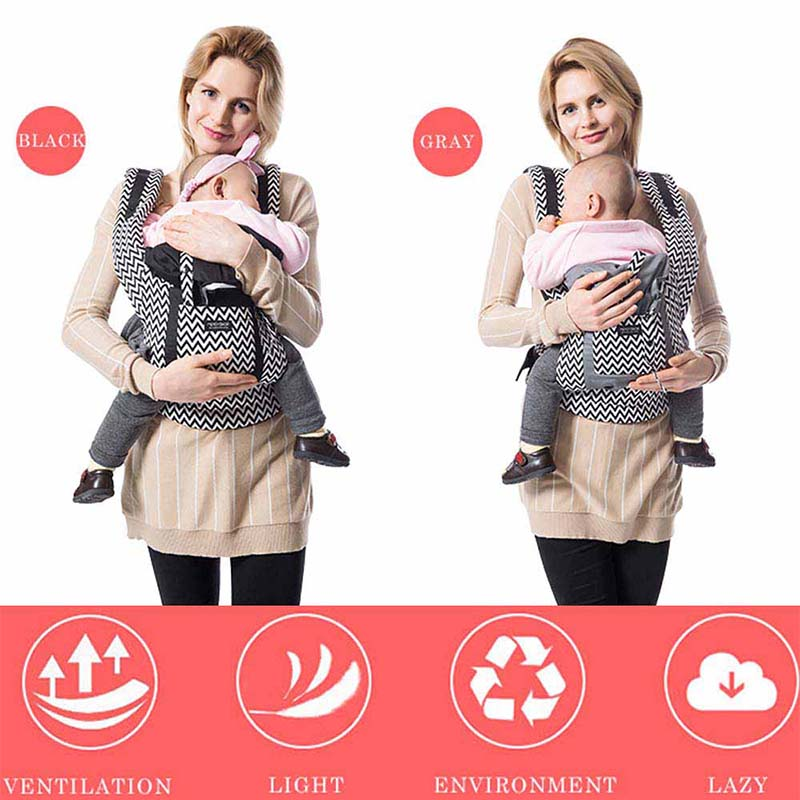 Ergonomic Baby Carriers Backpacks And Portable Baby Sling Wrap For 5-36 Months Babies 9