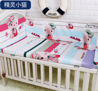 Promotion! 5PCS Baby Bedding Set Accessories,Crib Sheets for Baby, ,include:(bumpers+sheet) bh 23 wireless headphone