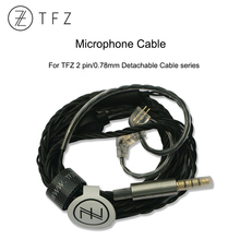 TFZ Original Detachable Earphone Cable With Microphone 2pin 0.78mmm for T2 Galaxy KING MY LOVE