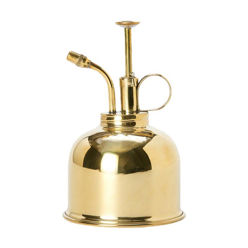 Латунная бутылка для полива в скандинавском стиле, винтажные банки для воды, суккулентные растения, бутылка для распыления золотого сада, и...