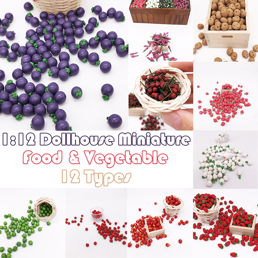 10Pcs Resin Artificial Fake Miniature Vegetable Fruit Play DollHouse Toy Decorative Craft Kawaii DIY Cucumber Accessories image