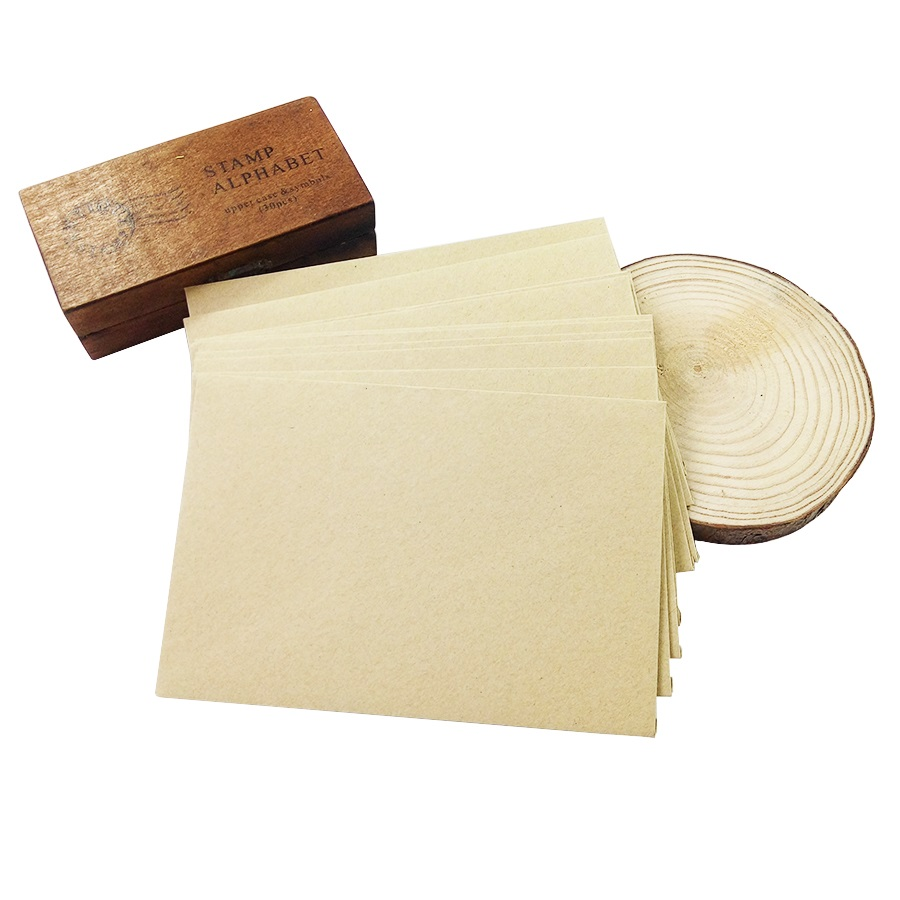 50pieces Rough grain gift card DIY Multifunction  Kraft  paper envelope  16*11cm Gift card envelopes for wedding birthday party 5