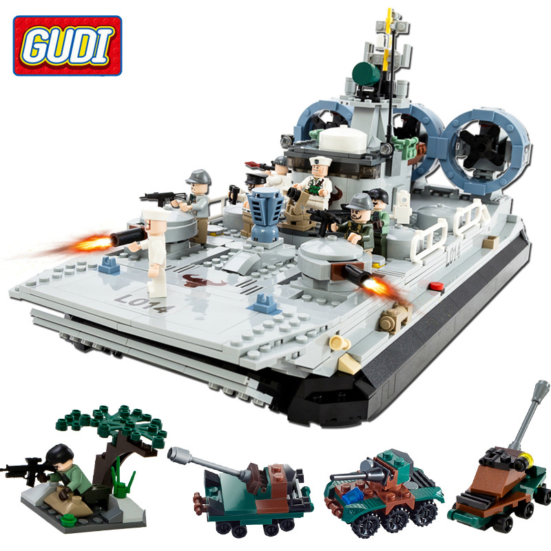 GUDI 928PCS military Series Building Blocks Toy Childrens Educational Bricks Toys Let Children Experience Different Pleasures [small particles] buoubuou creative puzzle toy toy bricks 30 16219 new military military series