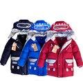 Горячей продажи зима новый мультфильм робот пальто мальчиков детей вниз пальто мальчиков верхняя одежда вниз пальто и куртки