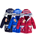 Hot-selling winter new cartoon robot coat boys children down coats baby boys outerwear down coat & jacket