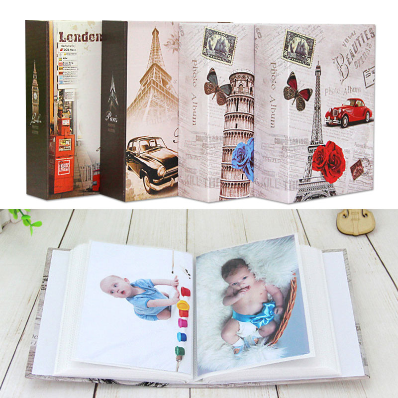 Портативный 4R фотоальбом для фотоальбома DIY для хранения фотография книги держатель для хранения фото большой емкости для мультфильмов