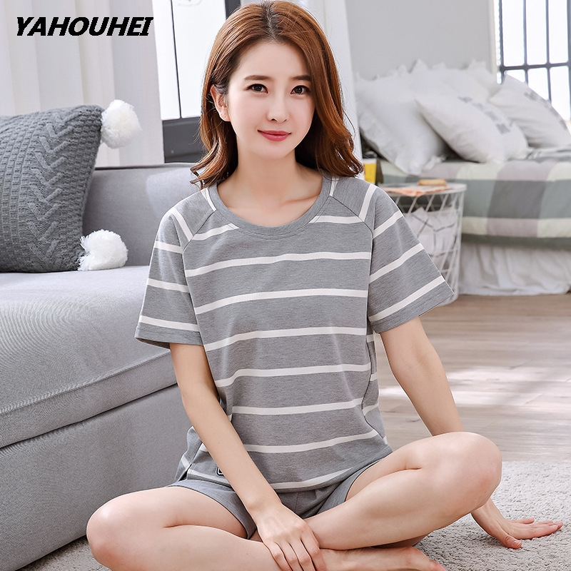 Woman   Pajamas     Sets   Summer Women   Pajamas   Cotton   Pajamas     Sets   Homewear Women Sleepwear Short Pyjamas Pijamas Femininas