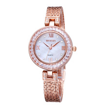 WEIQIN Marca de Moda de Lujo Casual Watch Mujeres Rhinestone Relojes Vestido de Cuarzo de Oro Mest Banda Reloj Montre Femme Relojes Mujer
