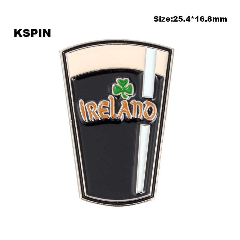 Tazza di birra Distintivo in Metallo Risvolto Spilli Spilla Gioielli Rozet in Distintivi e Simboli Kawaii Spilli Set XY0067