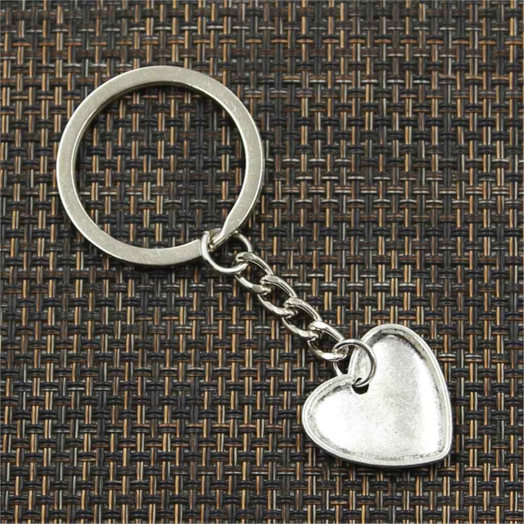 Novo chaveiro 21x20mm coração mãe crianças pingentes diy carro chaveiro titular chaveiro lembrança jóias presente