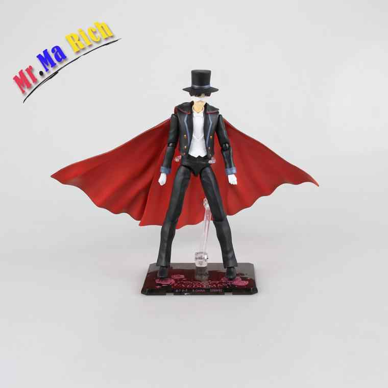 Anime Shfiguarts Sailor Moon 18 cm Tuxedo Mask Chiba Mamoru 20th Pvc Action Figure Collectible Modelo Toy Brinquedos
