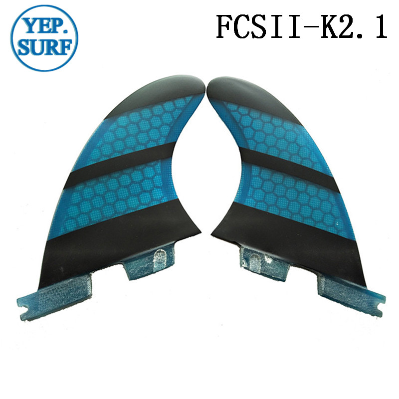 Surf Fins FCSII K2 1 Quilhas Honeycomb Fins fibreglass a set of five Surf FCS2 Fins Surfing in Surfing from Sports Entertainment