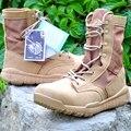 Открытый Военный Сапоги Дышащие Кожаные Ботинки Холст Обувь Мужчины Тактические Desert Combat Сапоги Туризм Туристические Обувь NSX60