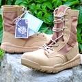 Botas Militares Botas de Cuero Transpirable Zapatos de Lona de Los Hombres Del Ejército al aire libre Táctico Botas de Combate Del Desierto Zapatos de Senderismo Viajes NSX60