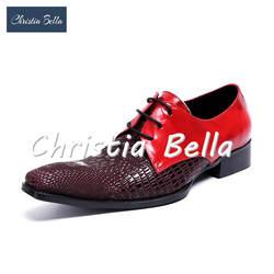 Кристиа Белла, обувь на не сужающемся книзу массивном каблуке, zapatos hombre, большие размеры 38-47, Новое поступление, Лоскутная мужская модельная