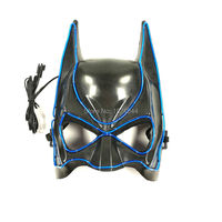 2017 New Style Lighting Color Blue Halloween Accessories Decoration EL Wire Mask Event Party Mask With