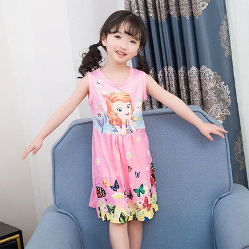 2019 Freizeit Mode Cartoon-muster Mädchen Nachthemden Kinder Party Kleider Nachtwäsche Pyjamas Baby Mädchen Nachthemd Kleid Pyjamas Geeignet FüR MäNner, Frauen Und Kinder
