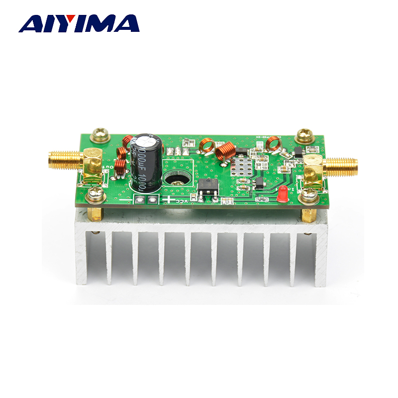 Aiyima 7W FM Power Amplefier HF Amplifier Board 65-110MHz Input 1mW With Heat Sink aiyima 42db 1mhz 800mhz 433mhz rf uvf linear power amplifier hf fm
