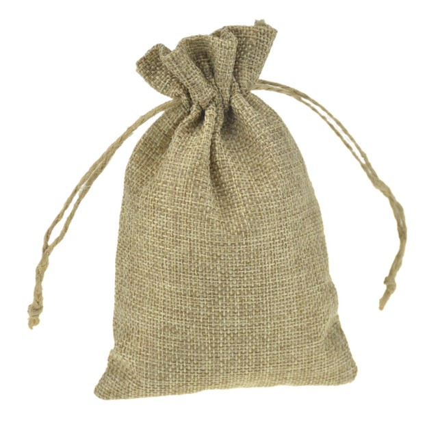 Custom Printed Jute Bags Burlap Wedding Favor Coffee Small