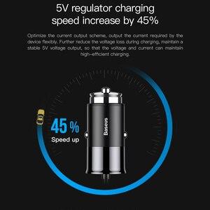 Image 3 - Chargeur de voiture USB Baseus 4 5V 5A charge rapide pour iPhone iPad Samsung Xiaomi tablette adaptateur GPS chargeur chargeur de téléphone de voiture