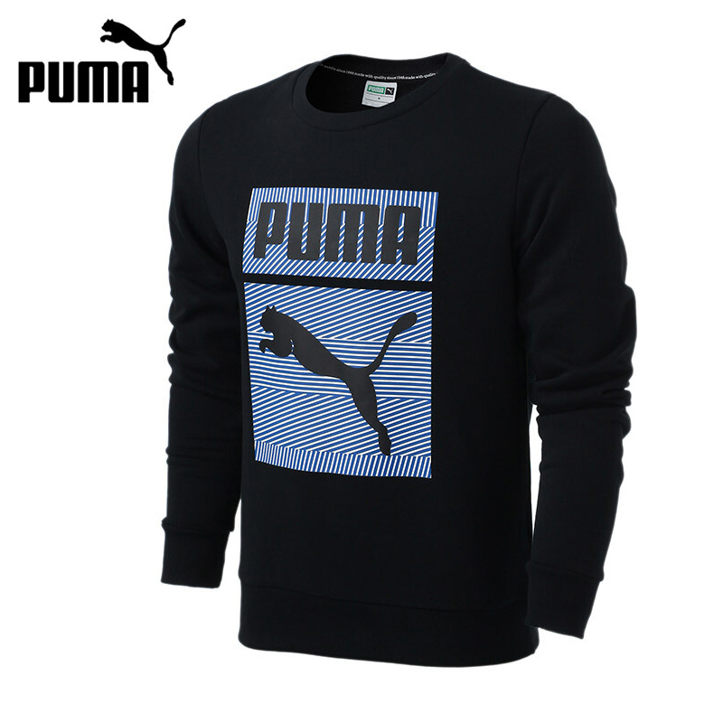 Original New Arrival PUMA Archive Graphic Crew, TR Men's Pullover Jerseys Sportswear crew neck graphic print suede sweatshirt
