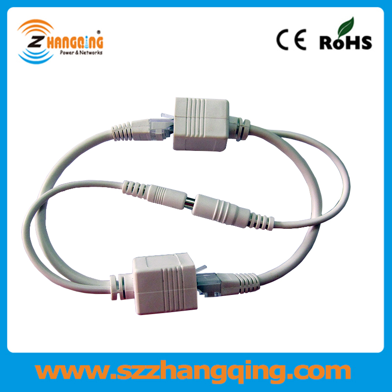 POE Cable Power Over Ethernet 100M Passive 12V PoE Injector Splitter Cable Kit In Transmission Cables