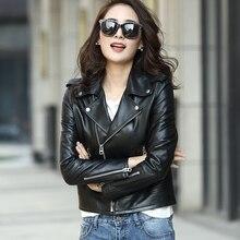 MLCRIYG 100% veste en cuir véritable femmes 2020 printemps automne manteau en peau de mouton naturel Streetwear court veste en cuir véritable YQ315