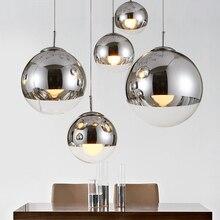Современный Том Диксон гальванический светодиодный подвесной светильник серебро/золото стеклянный шар Подвесная лампа кухня гостиная спальня подвесной светильник