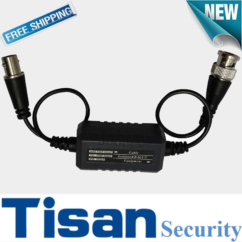 5PCS Ground Loop Isolator support HDCVI/AHD/HDTVI Passive Video Balun single channel passive video balun grey silver 2 pcs