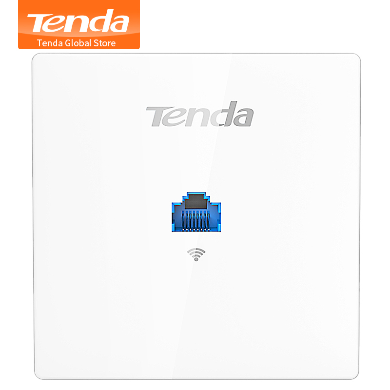 TENDA W9 1200Mbps Wireless Access Point 11AC Wireless In-Wall 86 Type AP, Indoor Wall Client+AP, For Hotel/Villa/hospital Wards