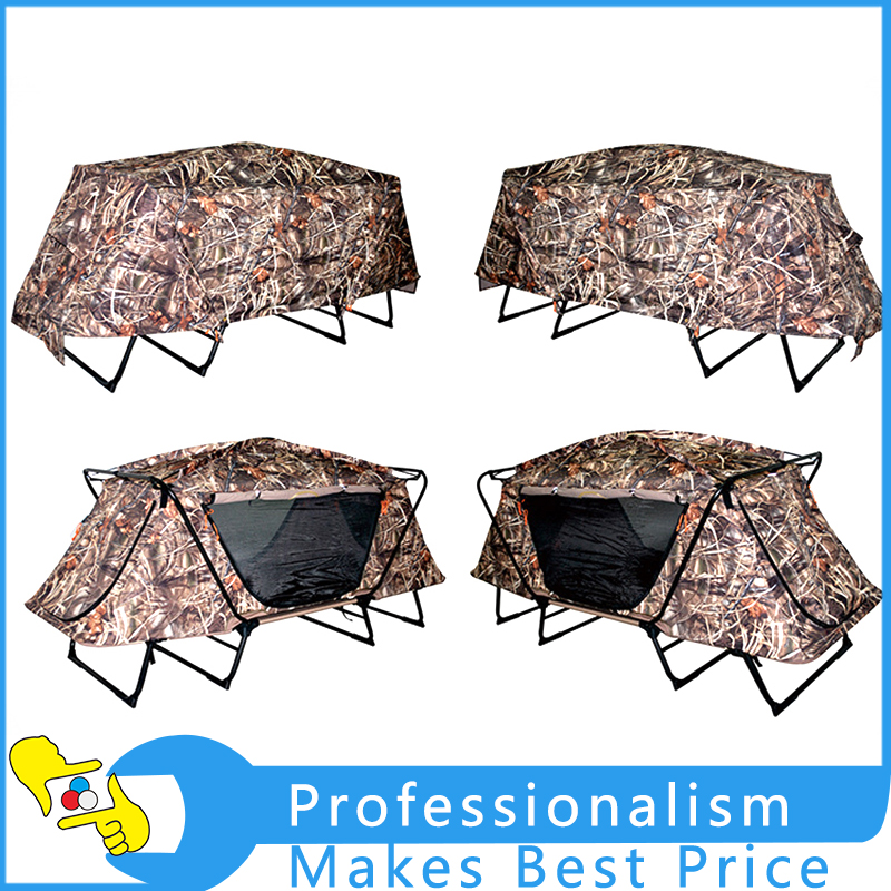 1PCS Army Green Outdoor Waterproof Folding Camping Hiking Lift-Off Tent Multi-function Double Folding Deck Chair multi function green