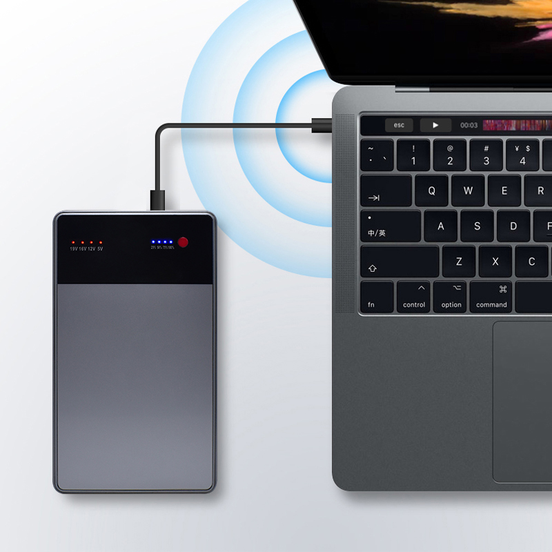 40000mAh Notebook Power Bank 3.5A 19V DC 2 USB External Battery Charger For Laptops Notebooks Tablets IPhone X 8 8 Plus