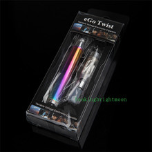 Adjustable Voltage Rainbow Electronic Cigarette Kits Ego Twist E pen Starter kit 650mah/900mah/1100mah Battery E Cigs