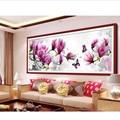 Moda Mariposas Magnolia juego Diamante Redondo Pintura Diamante 5D DIY Bordado punto de Cruz Kits Diamond Mosaico Decoración Del Hogar