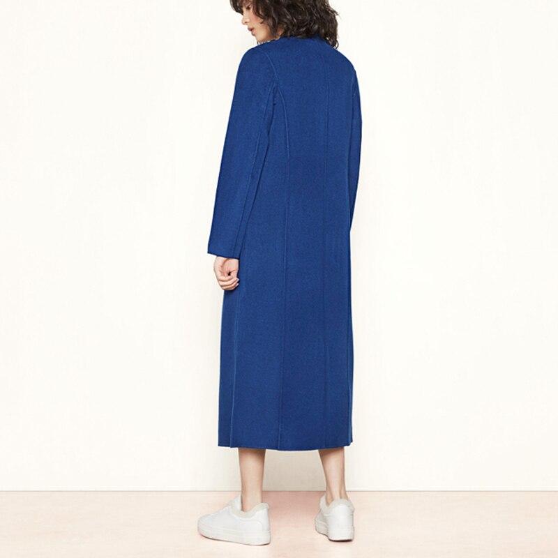 Pardessus Bleu kaki Élégant Automne Laine Rabattu Casual Femme Hiver rouge Style Blend Chaude Gris Femmes Veste gris Manteau Coréenne Nouveau 2018 Long BnUqxwT5aR