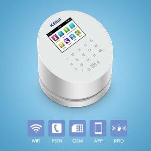 Image 3 - KERUI W2 planlı kol APP uzaktan kumanda kablosuz WiFi GSM PSTN ev güvenlik Alarm sistemi RFID kart ile Siren Alarm sistemleri