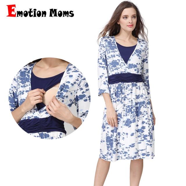 Emotion Moms Summer Spring Pregnancy Maternity Clothes Nursing Dress Breastfeeding Dresses For Pregnant Women Maternity Dress