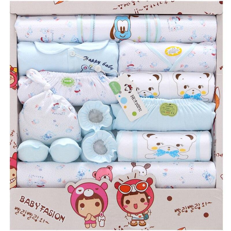Купить с кэшбэком Hot 18 Pcs new born baby Supplies Newborn Gift Set /Baby boy girl Infant Clothing Set/ Baby Clothing High Quality!