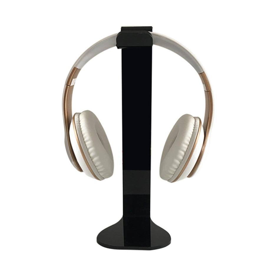 VOBERRY Black Universal Acrylic Headphone Stand Head Holder Display Hanger For Sony AKG  ...