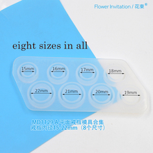 Flower Invitation MD1129 A flat ring mold collection Silicone Crystal Epoxy Ring