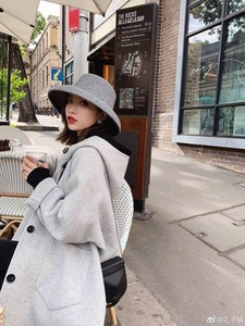 Image 2 - ฤดูใบไม้ร่วงฤดูหนาวหมวกสำหรับหมวกผู้หญิงหมวกกว้าง brim felt trilby retro แสดงขนาดเล็ก face หมวก