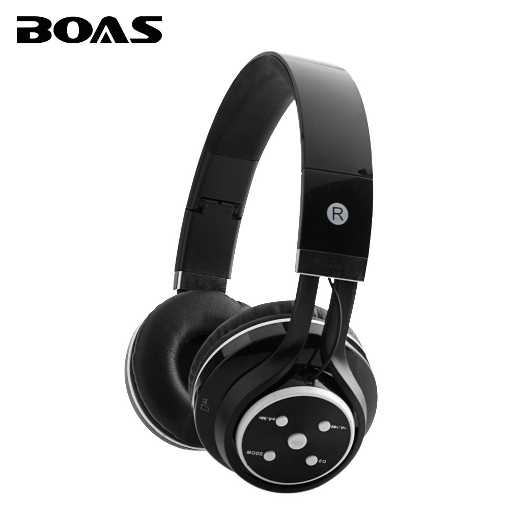 BOAS wireless bluetooth stereo headphones support TF card FM radio MP3 portable headsets microphone earphonea for iphone samsung