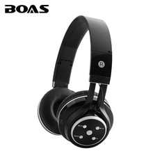 BOAS wireless bluetooth stereo headphones support TF card FM radio MP3 portable headsets microphone earphonea for