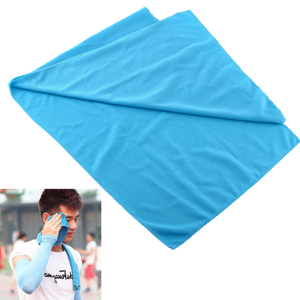 New Summer Ice Cold Cool Towel Scarf Reuseable Jogging Sports Golf Fitness Blue Hot sell Cold towel