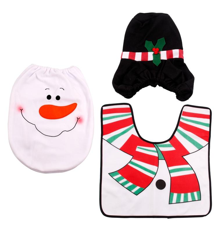 HTB1sQLVSFXXXXalXVXXq6xXFXXXm - FENGRISE Santa Claus Rug Toilet Seat Cover Christmas Decoration Fancy