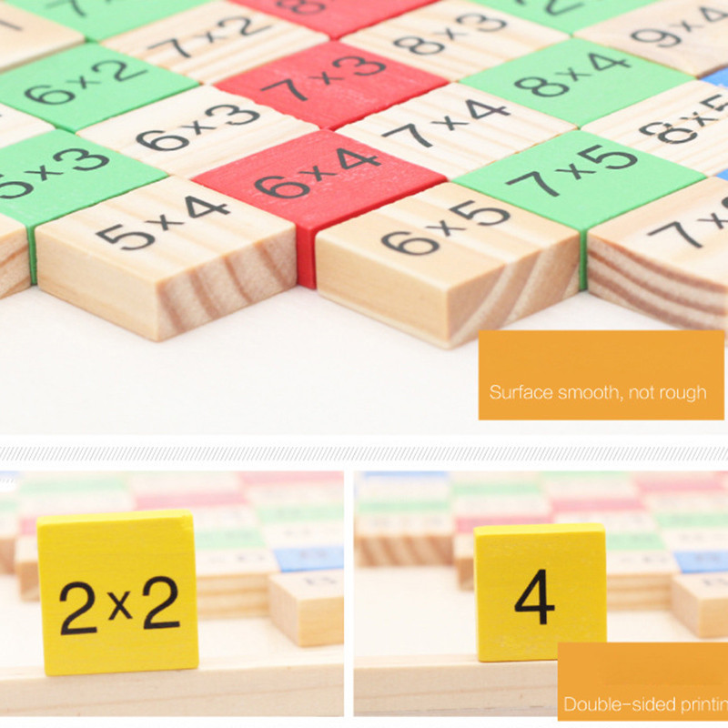 Montessori Wood Multiplication Table Wooden Children Educational Toys 99  Arithmetic Math Toy Figure Building Blocks Christmas Gift (7)1