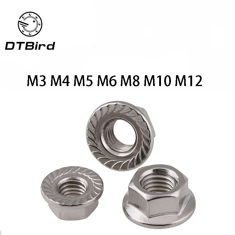 8-32 Stainless Steel Flange Nuts Serrated Base Lock Anti Vibration Qty 50