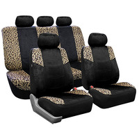 Car Seat Cover flannel velvet Leopard print cushion seat protector For lada grant vaz 2114 fiat punto for Jeep SUV Pickup