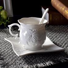 201-300 ml European coffee cup dish relief ceramic coffee cup set flower tea cup black tea cup ceramic cup coffee cup стоимость